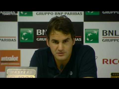 Roger Federer Reflects On Gulbis Defeat Rome 2010