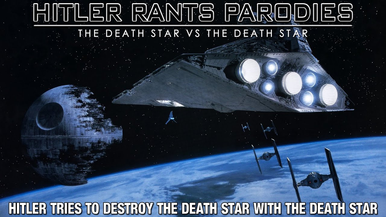 Hitler tries to destroy the Death Star with the Death Star