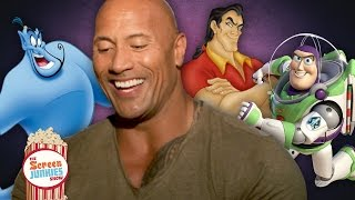 "Dwayne ""The Rock"" Johnson As Your Favorite Disney Characters (Buzz Lightyear, Gaston & The Genie)"