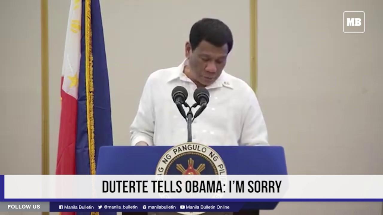 Duterte tells Obama: I'm sorry