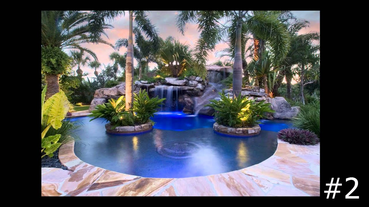 top 10 complete outdoor designs of swimming pools by lucas lagoons youtube. Black Bedroom Furniture Sets. Home Design Ideas