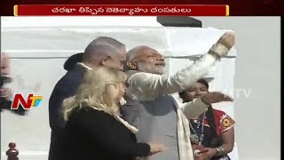 PM Narendra Modi and Israel PM Benjamin Receives Grand Welcome in Gujarat