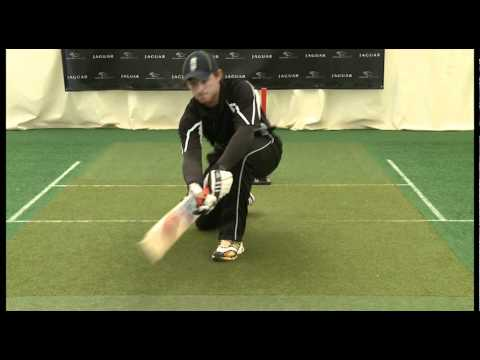 Ian Bell, England Cricketer, teaches the 3 sweep shots at the Jaguar Academy of Sport