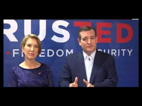 Ted Cruz Responds To John Boehner FULL Press Conference With Carly Fiorina In Ft Wayne