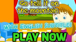 Go tell it on the mountain with English Subtitles - Nursery Rhymes & Songs in HD