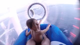 Crazy Glass Water Slide at Disney Fantasy Ship - Family Fun Time