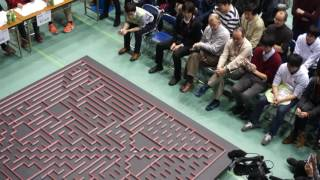 2016 All Japan micromouse contest-Halfsize mouse Fantom Searching