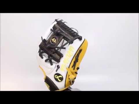 44 Pro Custom Baseball Gloves Classic Series 2 ( C2 ) White Yellow Black I web