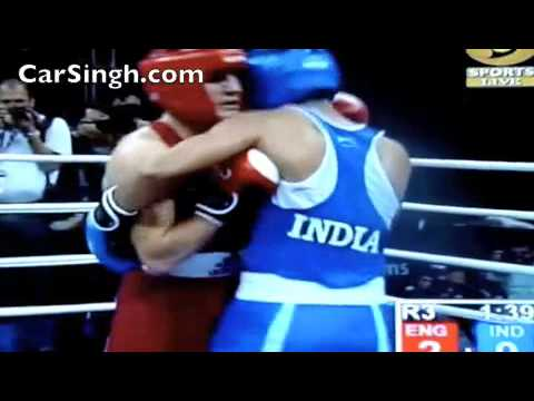Vijender Singh Gold Medal in Common Wealth Boxing C'ship 2010