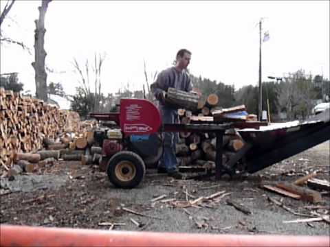 Supersplit log splitter with 4-way wedge