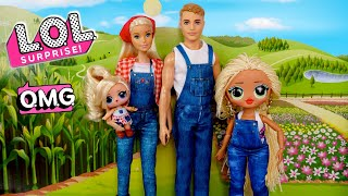 LOL Doll Family Morning Routine with LOL OMG SWAG - New Barbie Toys
