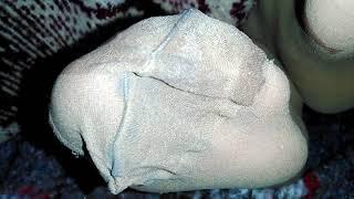 My wife's dirty pantyhose feet