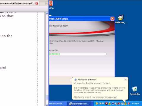 Bit Defender 2009 Antivirus Review Part 1