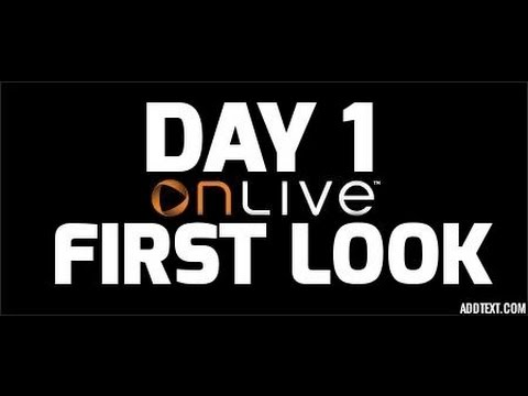 OnLive Gaming Service First Look / Navigation Demo -The Emulator Review With Jason Heine