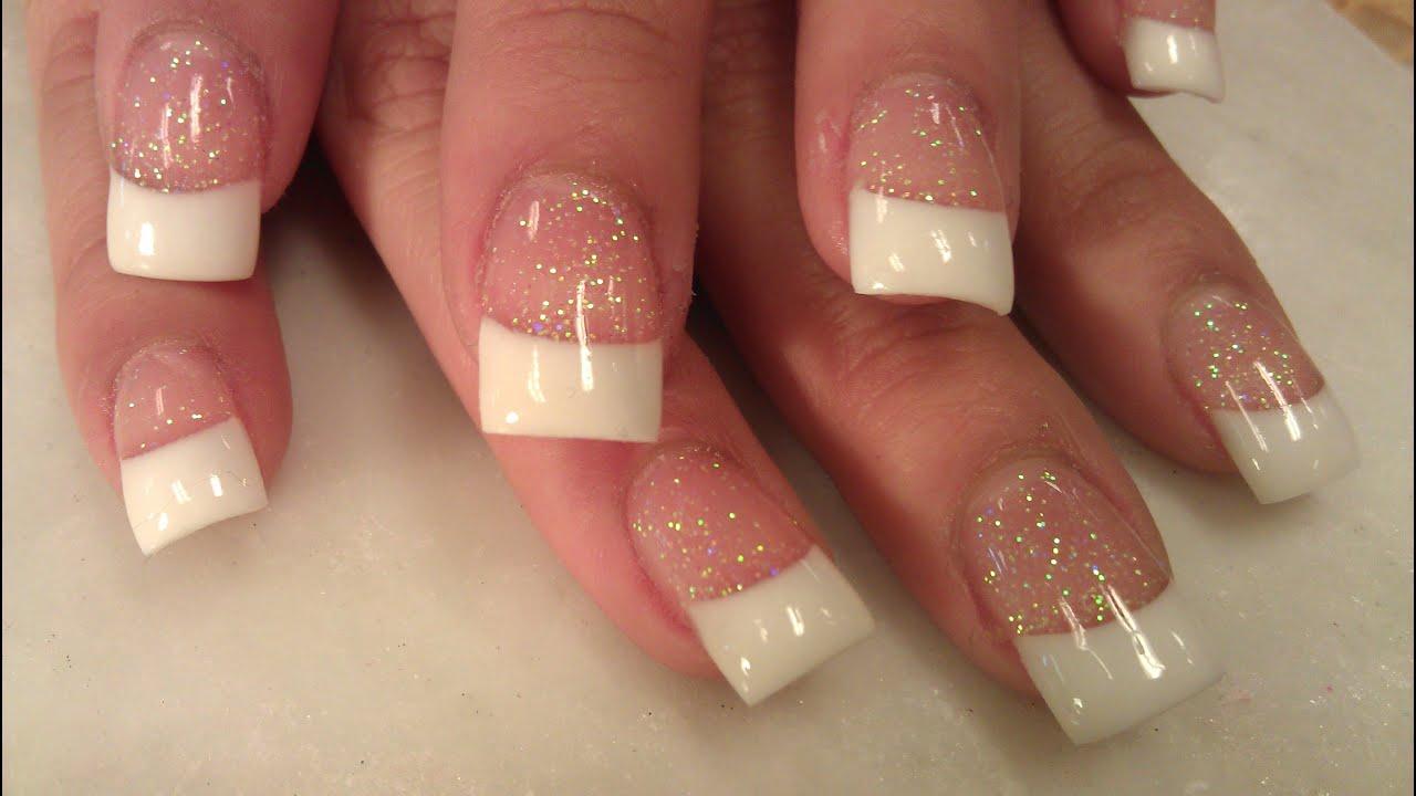 Color Solar Nails Solar Nails Pink White Part