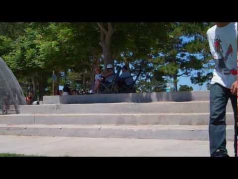 Backside kickflip down Chino 4 block - Gabriel Salazar - Clip of the day