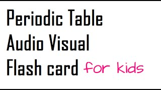 Download stick to science periodic table cards download the elements of the periodic table audio visual flash card3 urtaz Images