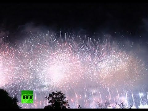 Video: Spectacular fireworks at London 2012 opening ceremony