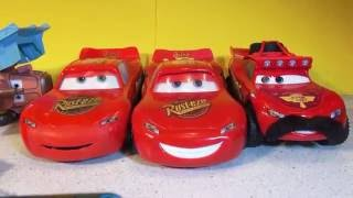 The Best Disney Cars RipLash Racers Lightning McQueen Mater Chick Hicks More Ramp Jumps