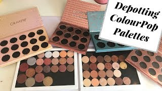 Depotting My ColourPop Eyeshadow Palettes!
