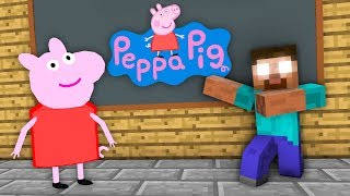 Monster School : Peppa Pig Challenge - Minecraft Animation