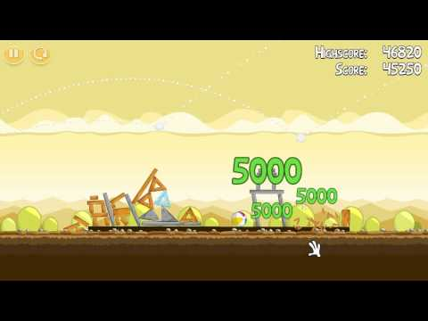 Mighty Hoax - Level 5-1 - Three Stars [ Angry Birds ]