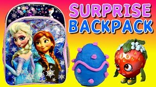 SURPRISE BACKPACK Shopkins Frozen Barbie Monster High My Little Pony Play Doh Surprise Eggs by DCTC