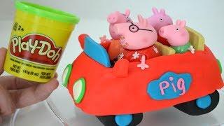 Plastilina Play Doh haciendo un Auto para George y la Familia Pig!!! TotoyKids