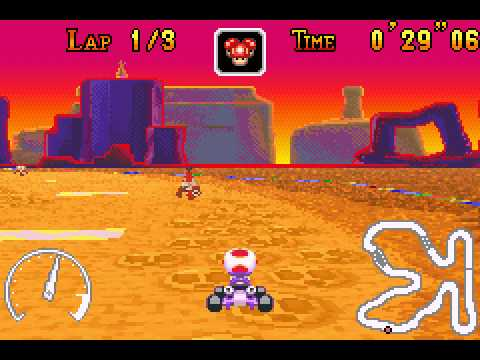 Mario Kart - Super Circuit - Sunset Wilds shortcut! - User video