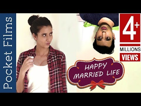 Husband and wife love after marriage | Romantic Short Film - Happy Married Life! thumbnail