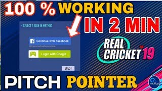 REAL CRICKET 19 FB LOG IN KAISE KREN + PITCH POINTER