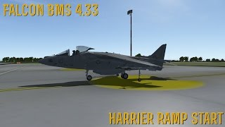 [FALCON BMS 4.33] AV-8B Harrier: Ramp Start Tutorial