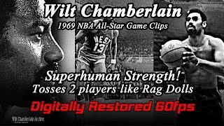 A glimpse of Wilt Chamberlain's incredible strength (1969 NBA All-Star Game HD 60fps)