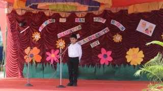 Shaan's Welcome Speech for Kindergarten Graduation Day Ceremony'14