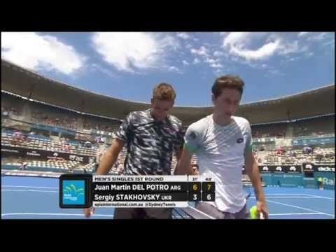 Juan Martin Del Potro v Sergiy Stakhovsky highlights - Apia International Sydney 2015
