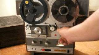 AKAI X-1800SD Reel to Reel 8 Track Recorder/Player Demo. ZCUCKOO