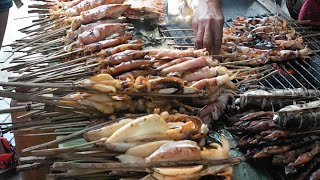 Grilled Seafoods at Crab Market - Kep City - Cambodia