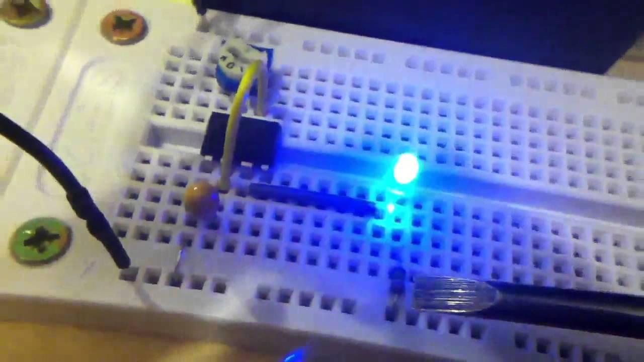 555 Timer Oscillator driving LED or Loudspeaker  YouTube