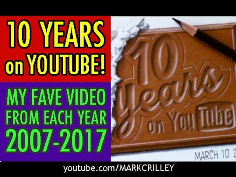 10 YEARS on YOUTUBE! My Fave Videos from Each Year