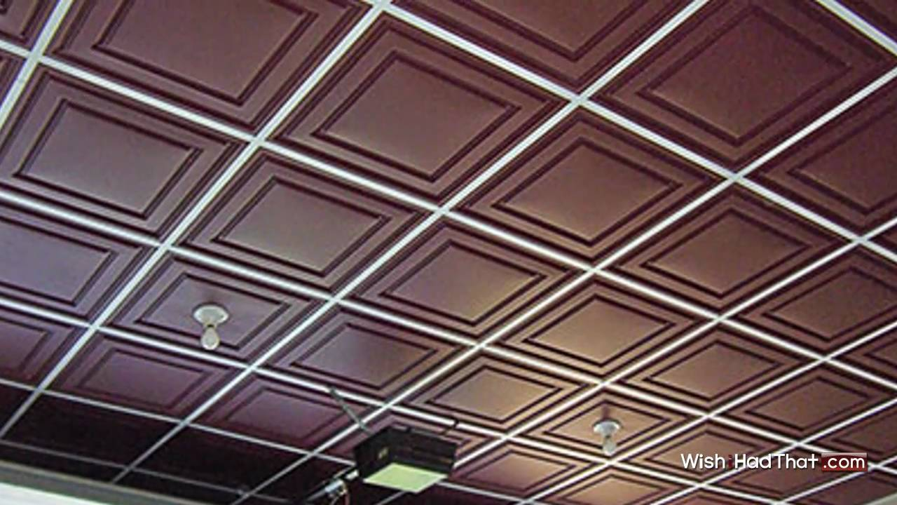 Thermoform Vinyl Ceiling Tiles Wishihadthat Com Youtube