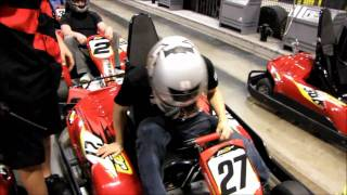 Indoor Go Karting at the MSI MOA Overclocking Event @ CES 2011 Linus Tech Tips
