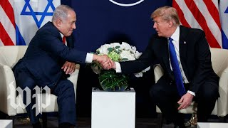 Trump welcomes Netanyahu to the White House
