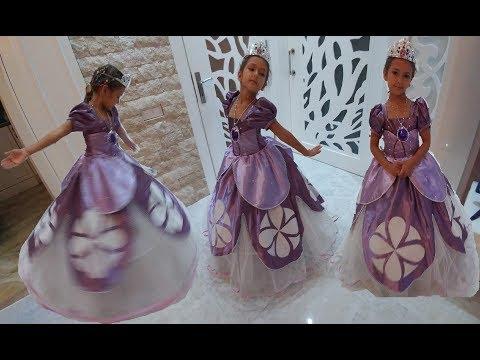 PRENSES SOFİA BİZE GELDİ, Eğlenceli çocuk videosu, kostüm