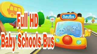Kids Schools Bus Android Gameplay | Educational Baby Games | Panda Schools Bus Games Review