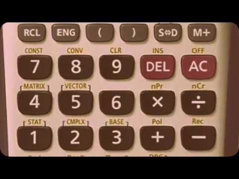 Calculadora casio fx-115es para correlacion.