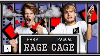 THE WORLD'S HARDEST GAME in RAGE CAGE met Pascal en Harm | LOG