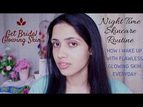 My Pre - Bridal Night Time Skincare Routine | Flawless glowing skin | Oily Sensitive Acne Prone Skin