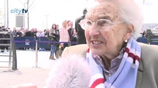 NORA MERCER - City v QPR pre match interview with Joe Mercer's widow