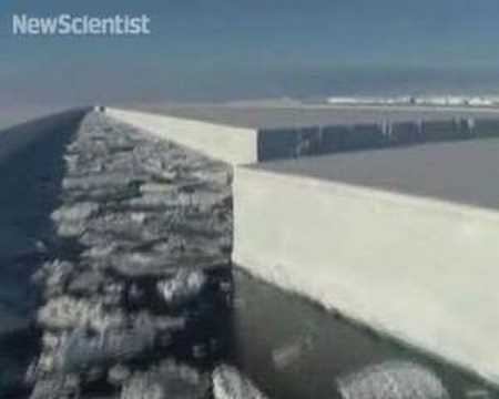 Antarctic iceshelf 'hanging by a thread'