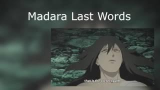 MADARAS LAST WORDS BEFORE HE DIES Naruto Shippuuden Episode 474